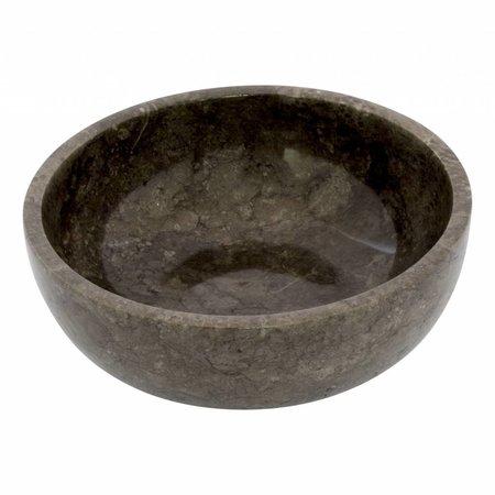 Indomarmer Obstschale aus Schwarzem Marmor 25 cm