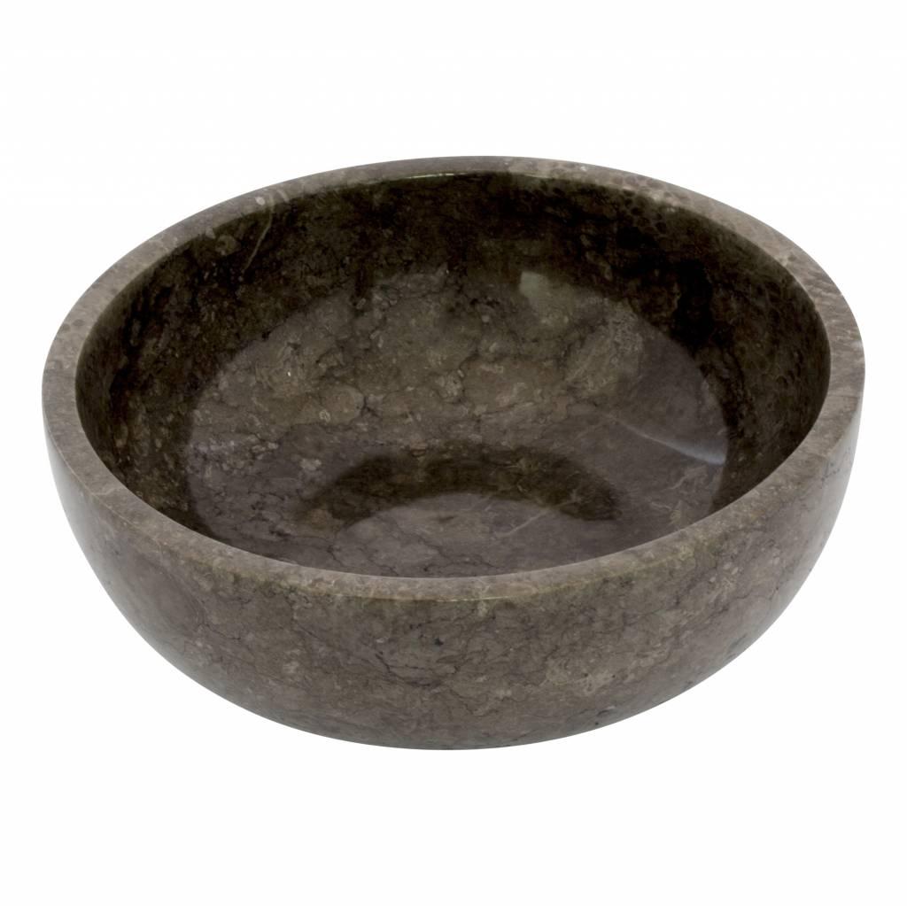 Indomarmer Fruitschaal van Zwart Marmer 25 cm