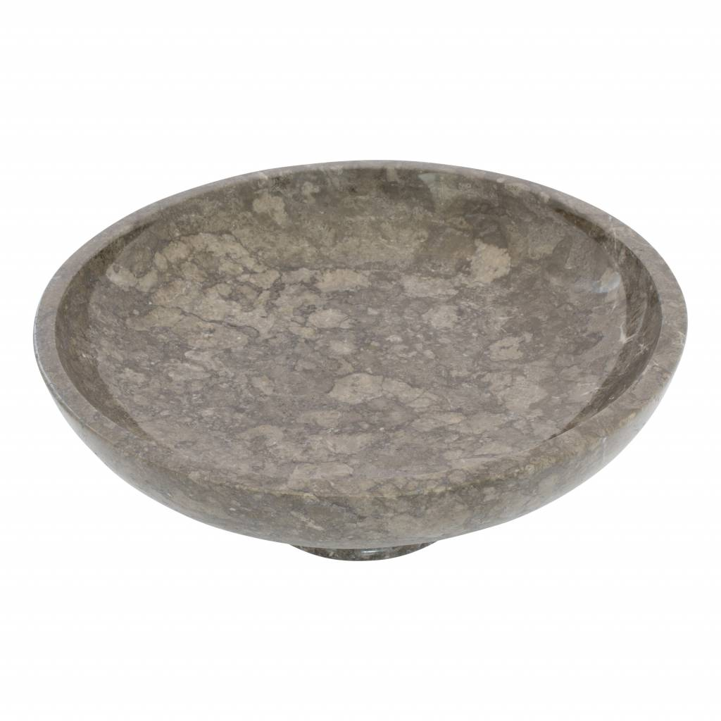 Indomarmer Gray Marble Fruit bowl with Foot Ø 40 cm