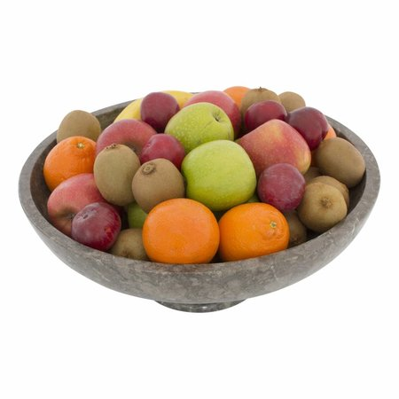 Gray Marble Fruit bowl with Foot Ø 40 cm