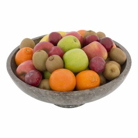 Indomarmer Grijze Fruitschaal groot met Voet Ø 40 cm