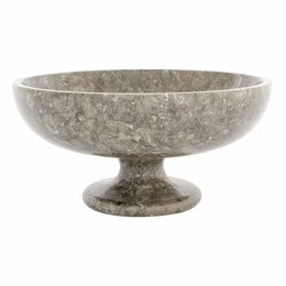 Gray Marble Fruit bowl with foot Ø 25 cm
