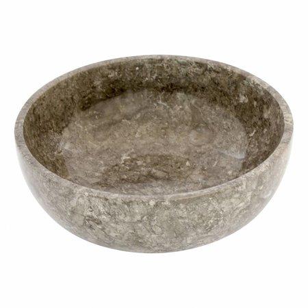 Indomarmer Fruitschaal van Grijs Marmer 25 cm