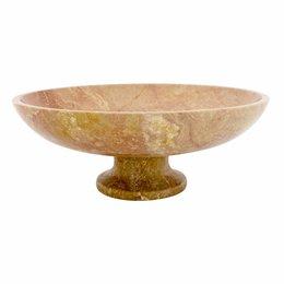 Indomarmer Java Rose Marmer Fruitschaal groot met Voet Ø 40 cm