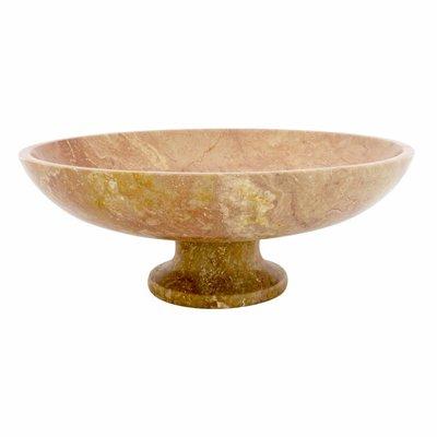 Indomarmer Java Rose Marmor Obstschale Groß mit Fuß Ø 40 cm