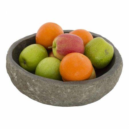 Indomarmer Obstschale aus Flussstein 25 cm