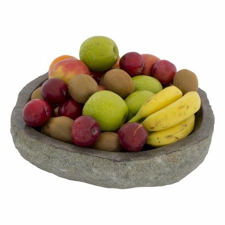 Indomarmer Grote Fruitschaal van Riviersteen 40 cm