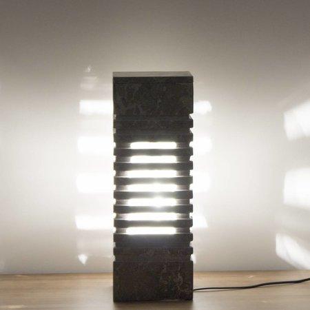 Square Lampe aus Grauem Marmor