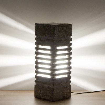 Indomarmer Square Lamp Gray Marble