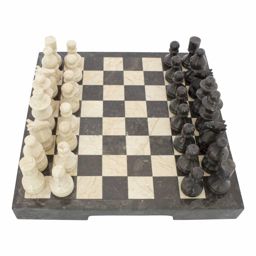 Indomarmer Schachbrett aus Marmor 40x40cm Modell 2