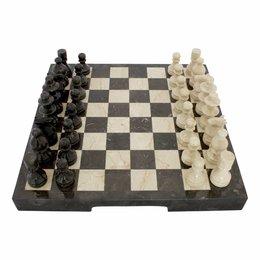 Indomarmer Schachbrett aus Marmor 45x45cm Modell 2