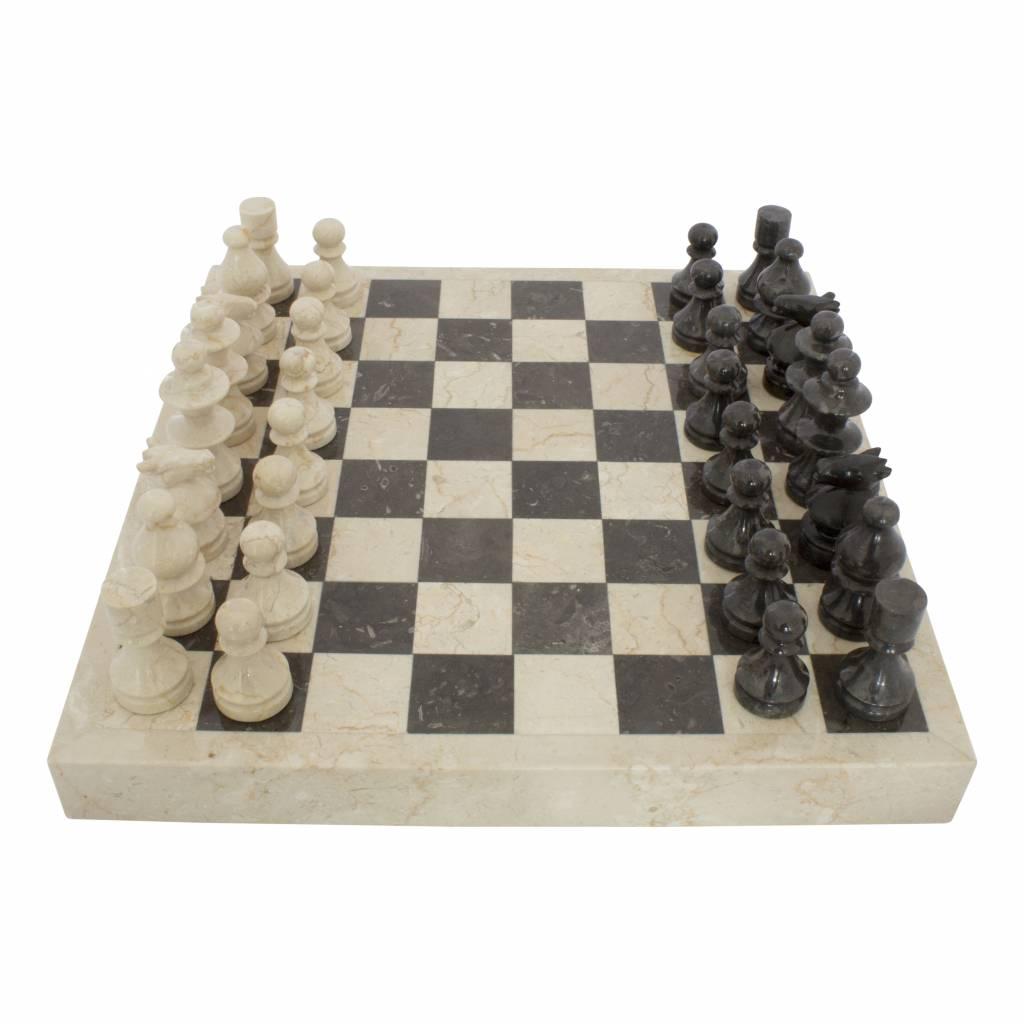 Indomarmer Schachbrett aus Marmor 45x45cm Modell 3