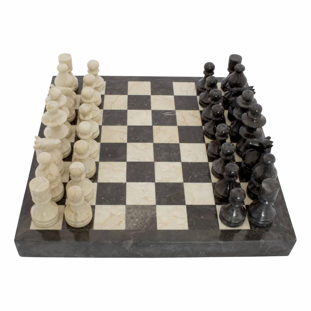 Indomarmer Marble Chessboard 40x40cm Model 4