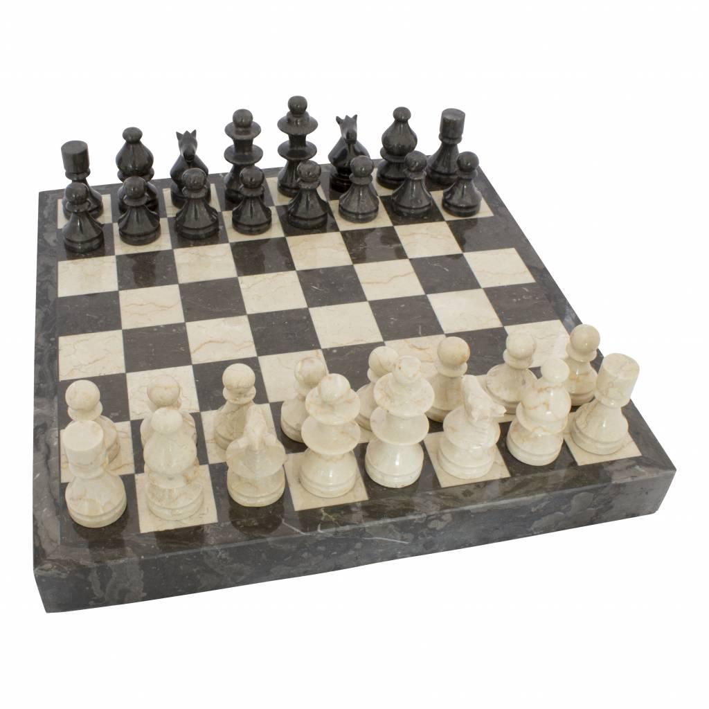 Indomarmer Schachbrett aus Marmor 45x45cm Modell 4