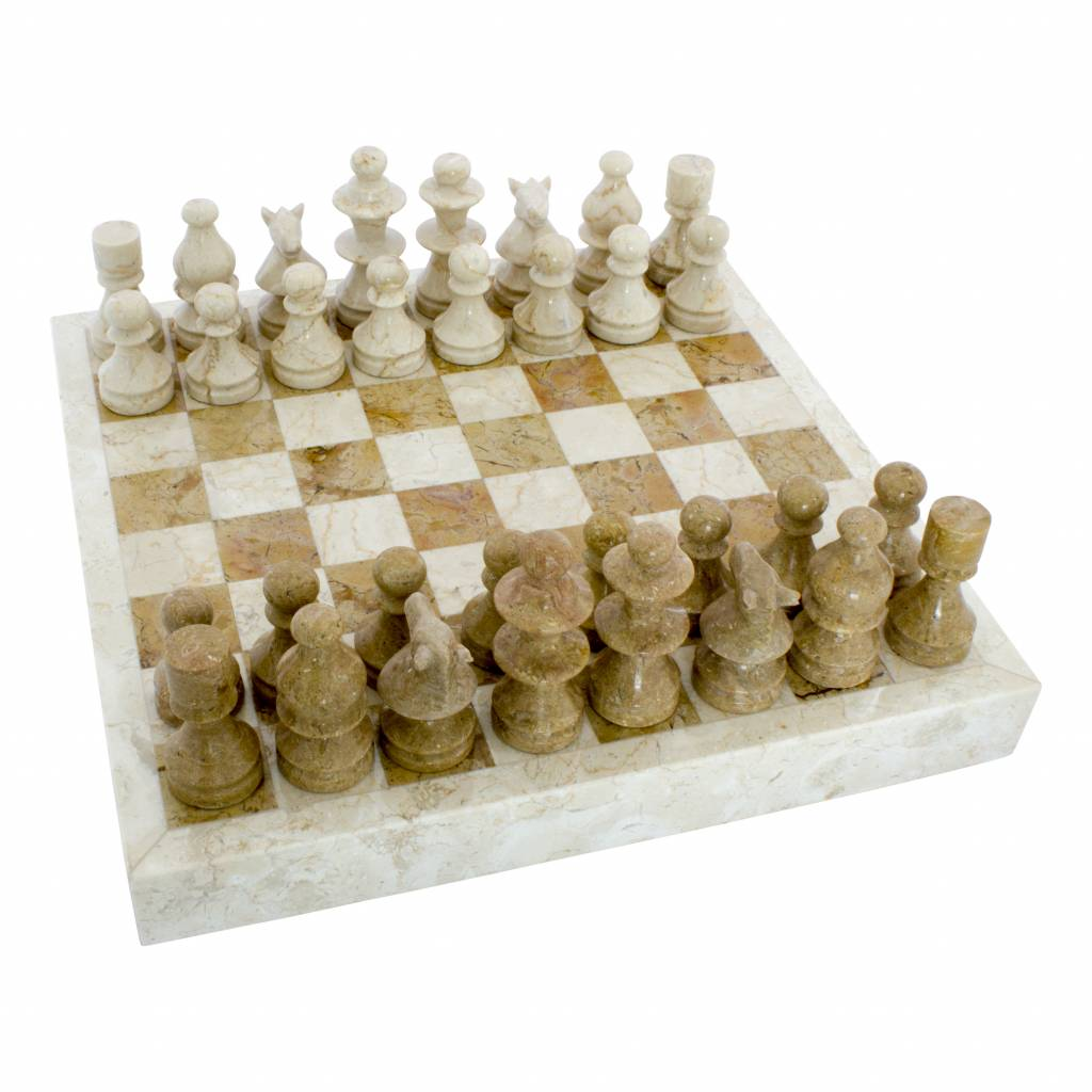 Indomarmer Schachbrett aus Marmor 40x40cm Modell 5