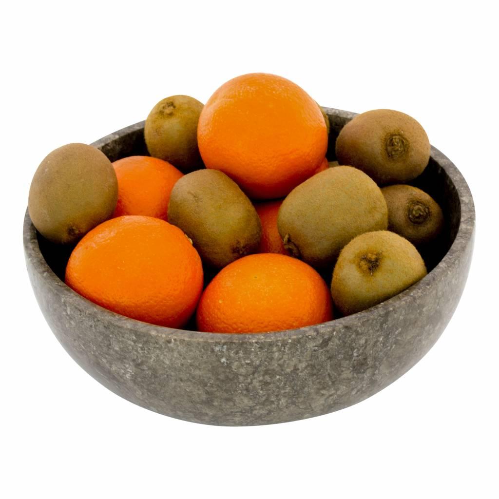 Indomarmer Obstschale aus Grauem Marmor 25 cm