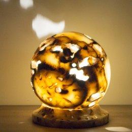 Indomarmer Ball Lampe Aus Onyx