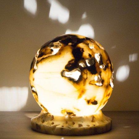 Ball Lampe Aus Onyx