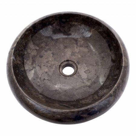 Indomarmer Schwarz Marmor Waschbecken Donat Ø 40 x H 12 cm
