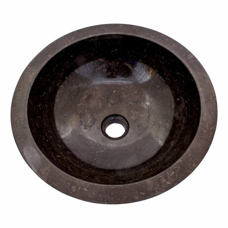 Indomarmer Schwarz Marmor Waschbecken Ø 40 x H 15 cm