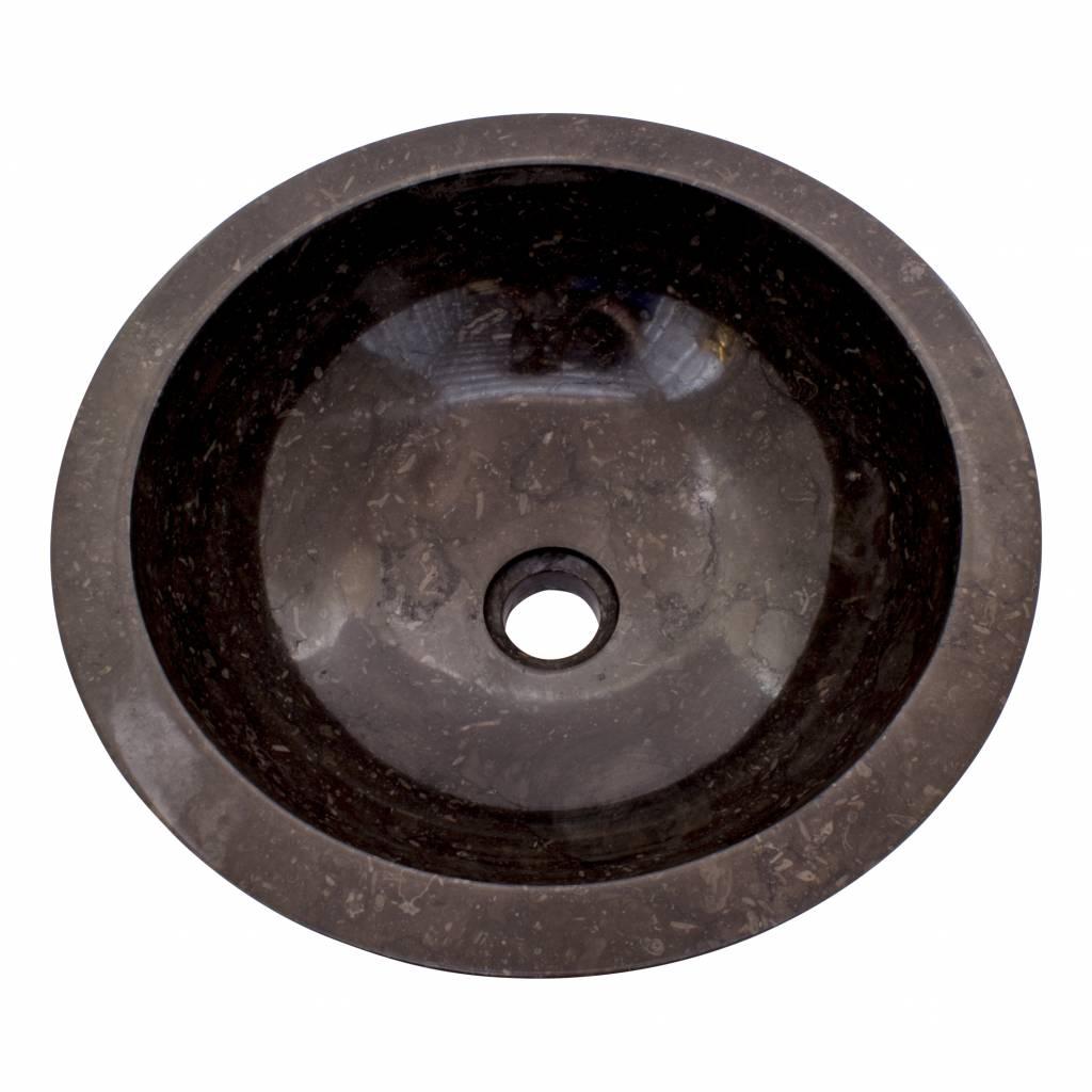 Indomarmer Black Marble Wash bowl Ø 40 x H 15 cm