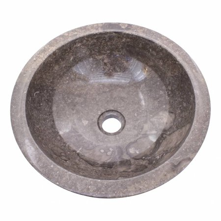 Grauem Marmor Waschbecken Ø 40 x H 15 cm