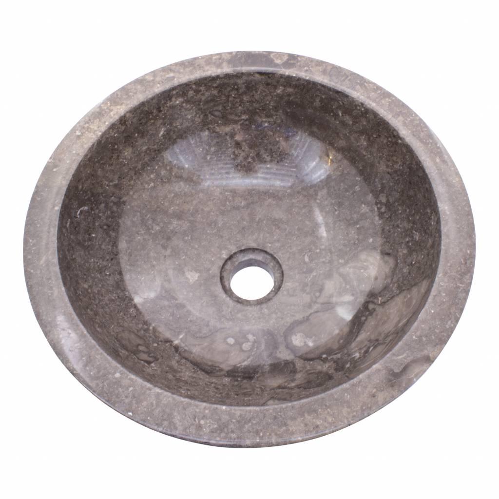 Indomarmer Grauem Marmor Waschbecken Ø 40 x H 15 cm