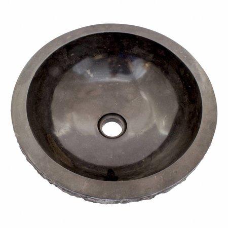 Indomarmer Schwarz Marmor Waschbecken Marmo Ø 40 x H 15 cm
