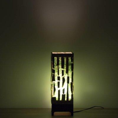Square Lamp Versteend Hout