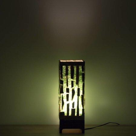 Indomarmer Square Lamp Versteend Hout