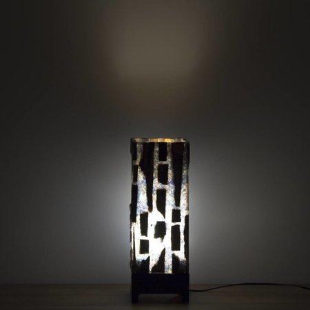 Petrified Wood Square Lamp