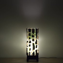 Petrified Wood Square Lamp