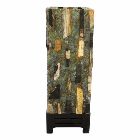Indomarmer Petrified Wood Square Lamp
