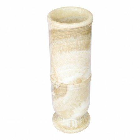 Regenschirm Vase aus Onyx H60cm Ø20cm