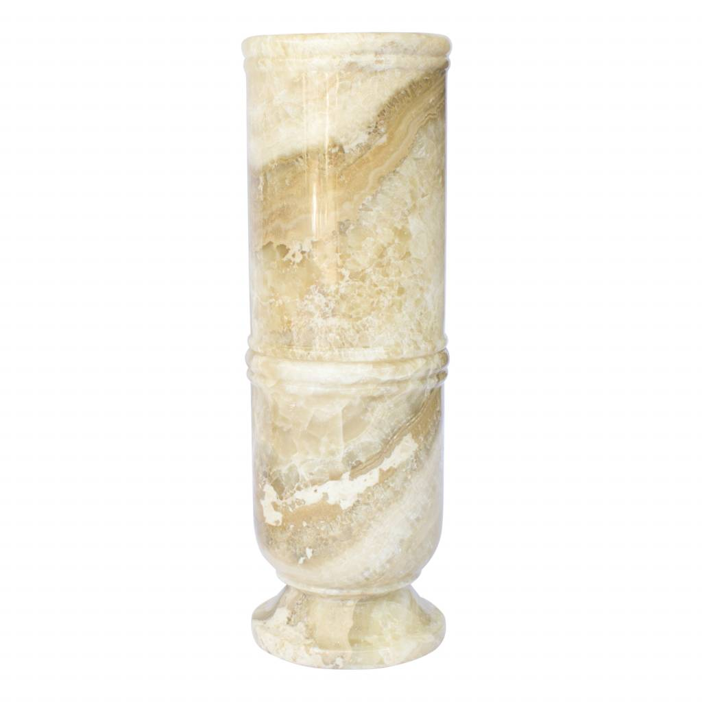Indomarmer Regenschirm Vase aus Onyx H60cm Ø20cm