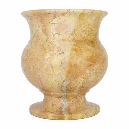 Vase aus Rotem Marmor H17cm Ø15