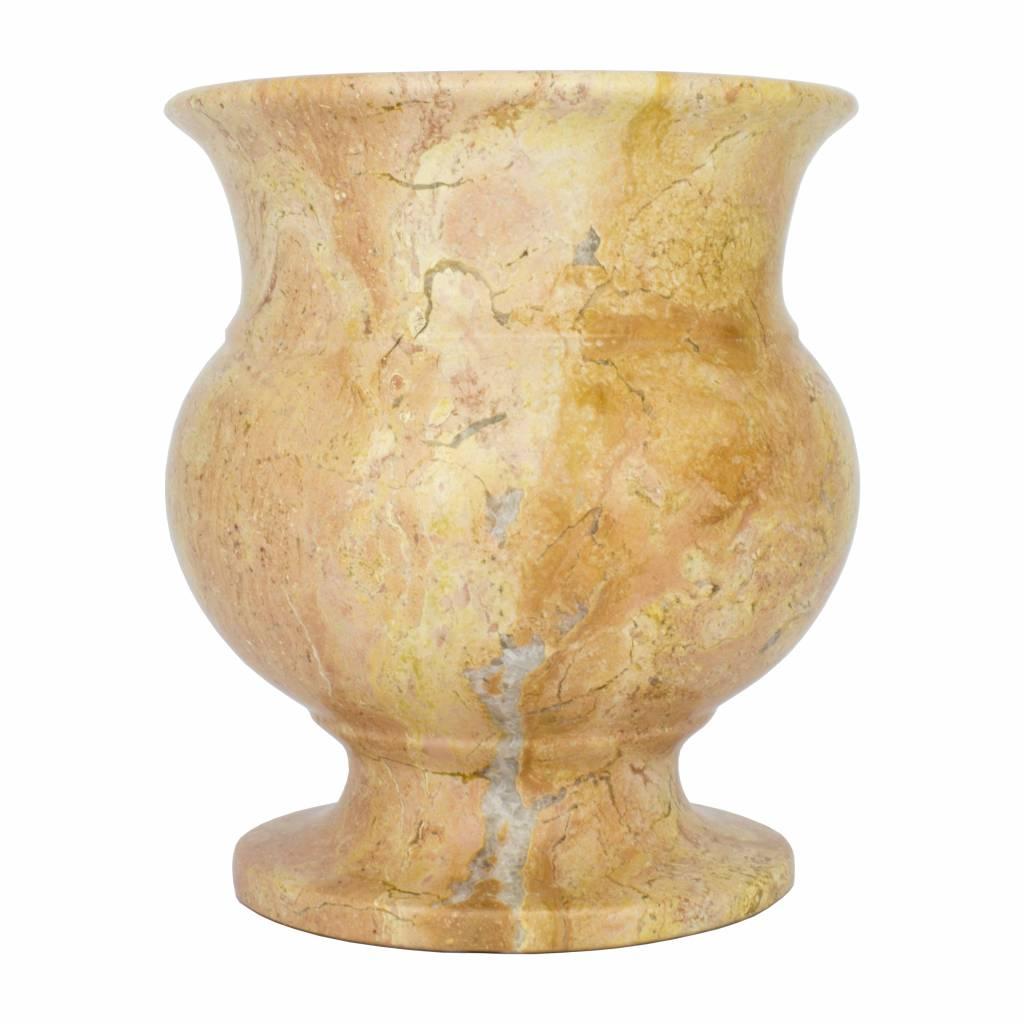 Indomarmer Vase aus Rotem Marmor H17cm Ø15