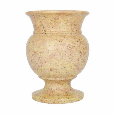 Vase aus Rotem Marmor H17cm Ø12