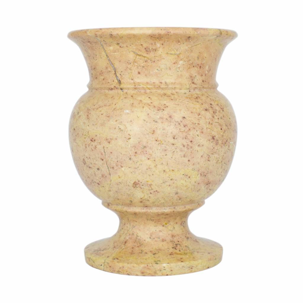 Indomarmer Vase aus Rotem Marmor H17cm Ø12