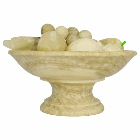 Indomarmer Onyx Bowl With Fruit