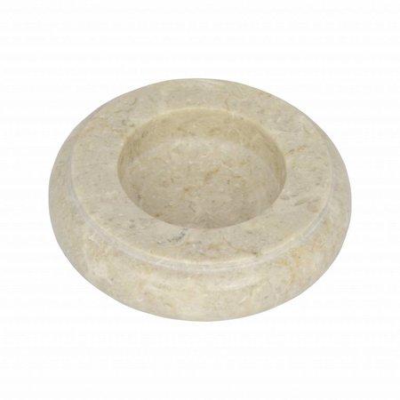 Cream Marble Ashtray Ø 12