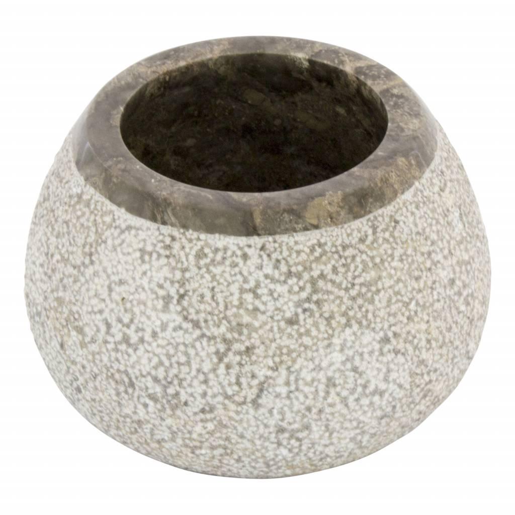 Indomarmer 5-Piece Gray Marble Bath Set Arya