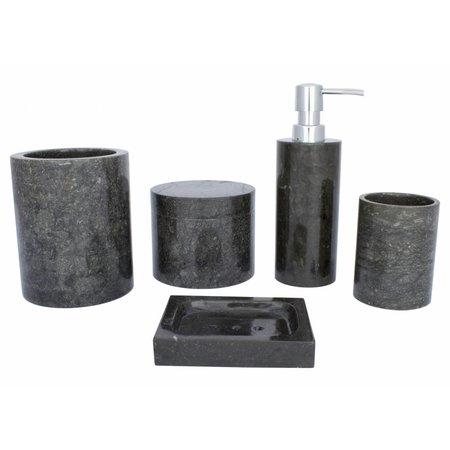 Indomarmer Zeepdispenser Sumatra Zwart Marmer