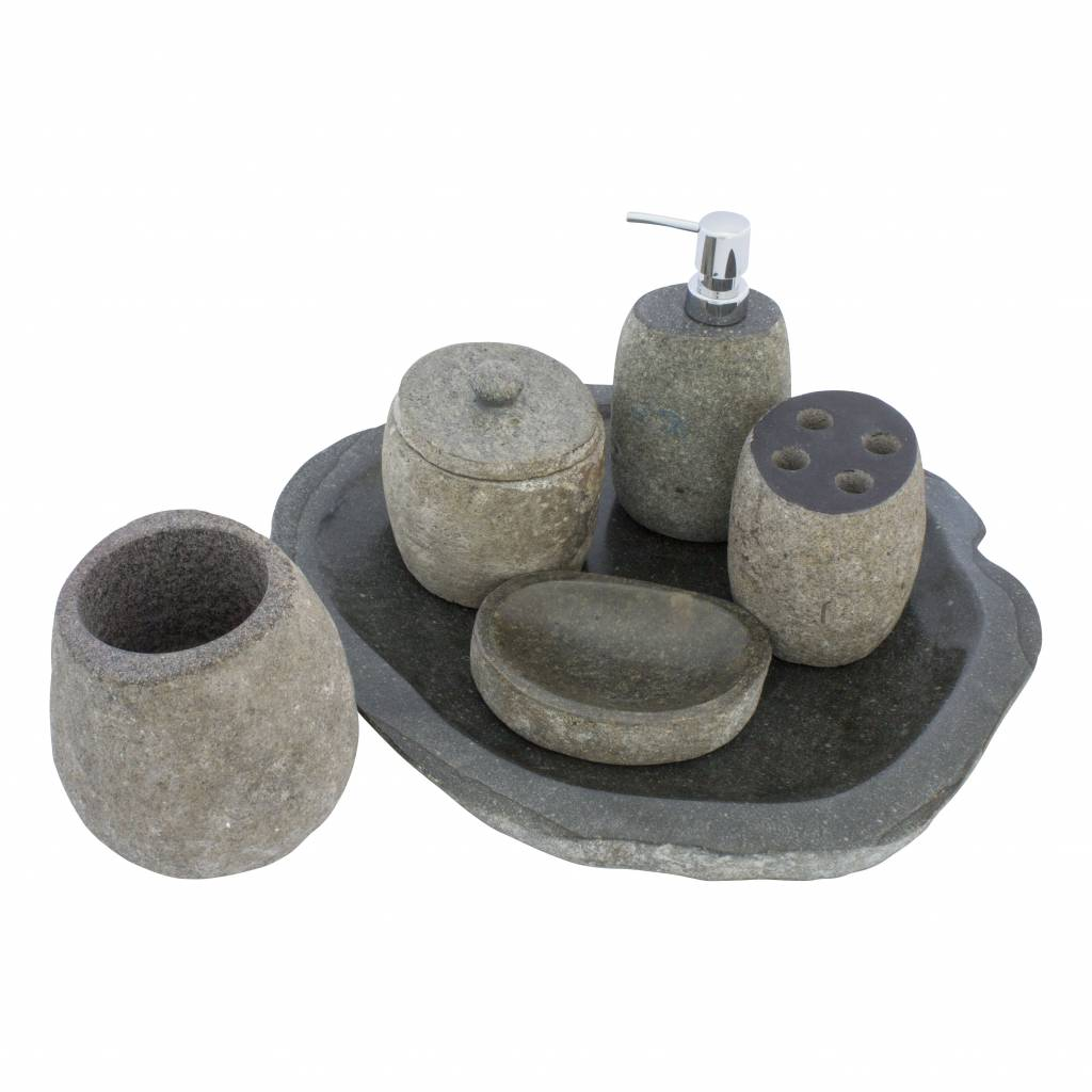 Indomarmer River stone Soap dish Flores