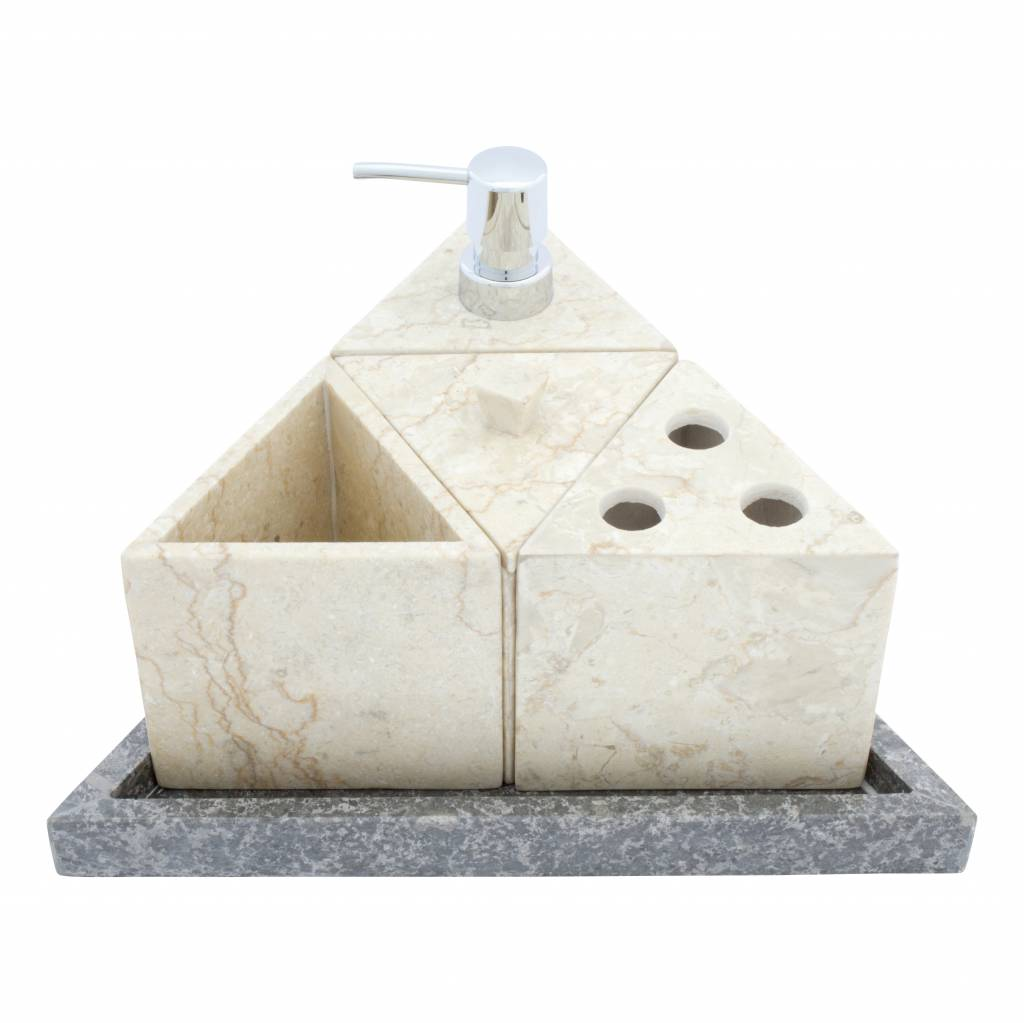 Indomarmer Marmeren Zeepdispenser Batu