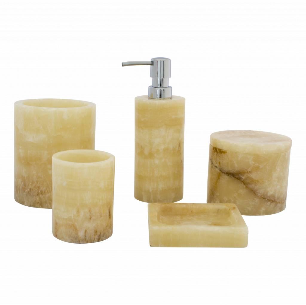 Indomarmer 5-Piece Onyx bath set Elang