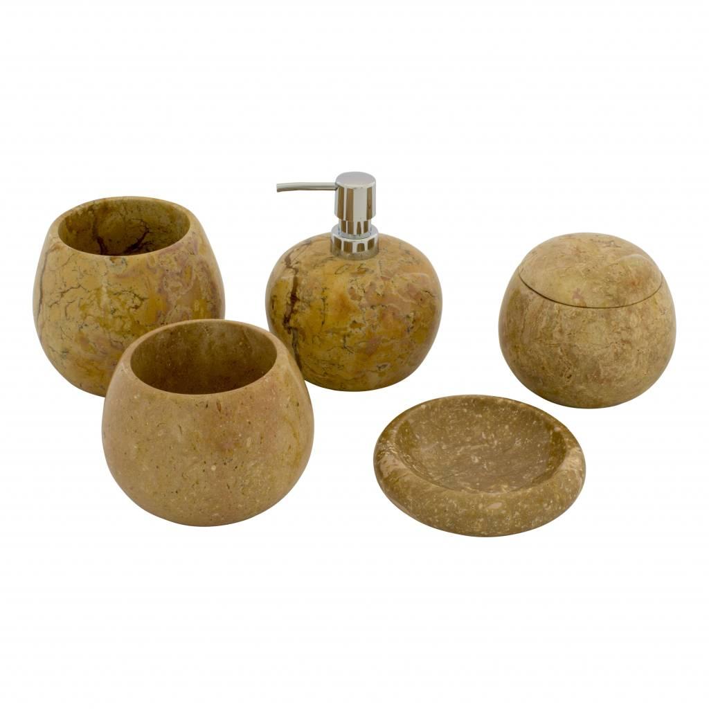 Indomarmer 5-Teilige Marmor Badeset Java Dalu