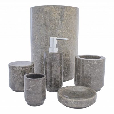 Indomarmer 6-piece Marble bath set Dewa