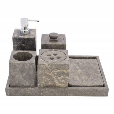Indomarmer 6-piece Marble bath set Losari