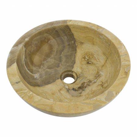 Indomarmer Sunset Onyx Wash bowl Ø 40 x H 15 cm